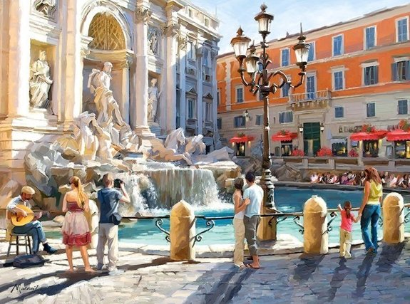 The Trevi Fountain, Fontanna di Trevi, Rzym, Włochy